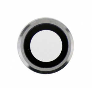 Sklíčko zadní kamery iPhone 6, 6S 4,7 + rámeček stříbrná