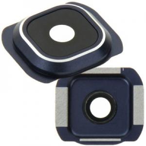 Sklíčko zadní kamery Samsung G920 Galaxy S6 černá / tmavě modrá