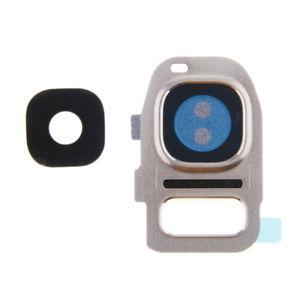 Sklíčko zadní kamery Samsung G930 S7, G935 S7 Edge stříbrná