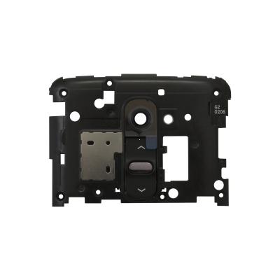 Sklíčko zadní kamery LG G2 D802 + zadní kryt a button černá