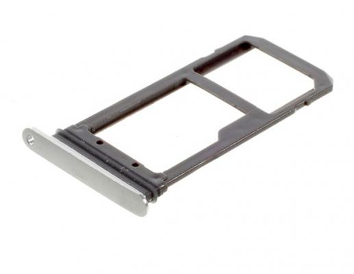 Držák (šuplík) SIM Samsung G935 Galaxy S7 Edge silver/white