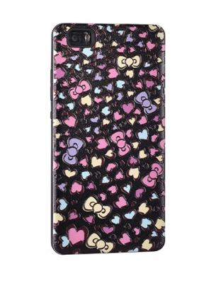 Pouzdro Back Case Hearts iPhone 7 4,7 černá
