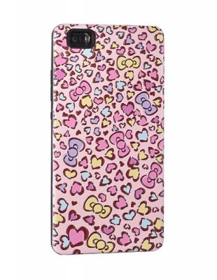Pouzdro Back Case Hearts Huawei P8 LITE růžová