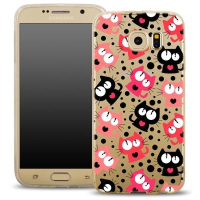 Pouzdro Back Case FASHION Samsung G920 Galaxy S6 transaprentní - kočky