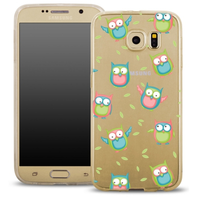 Pouzdro Back Case FASHION Samsung G920 Galaxy S6 transaprentní - sovy