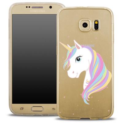Pouzdro Back Case FASHION Samsung G920 Galaxy S6 transaprentní - jednorožec