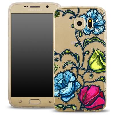 Pouzdro Back Case FASHION Samsung J500 Galaxy J5 transaprentní - květy
