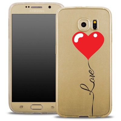 Pouzdro Back Case FASHION Samsung G935 Galaxy S7 Edge transaprentní - love srdce