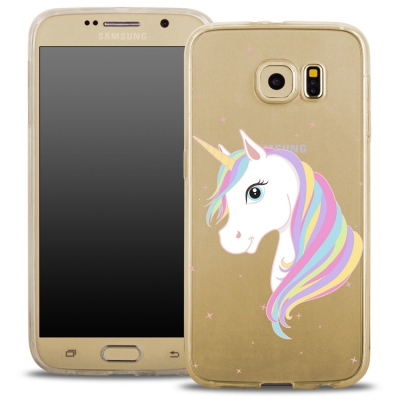 Pouzdro Back Case FASHION Samsung G935 Galaxy S7 Edge transaprentní - jednorožec
