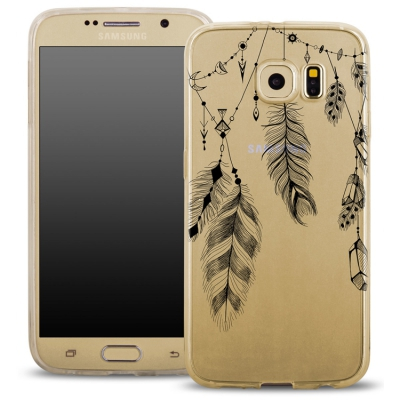 Pouzdro Back Case FASHION Samsung G920 Galaxy S6 transaprentní - peříčka