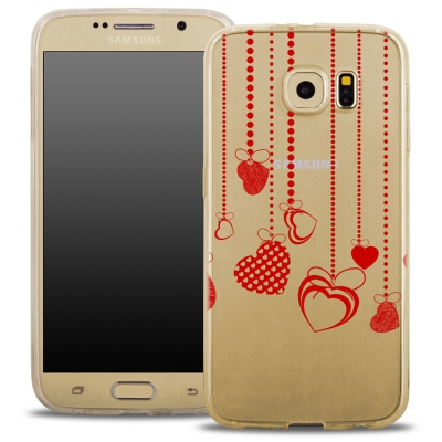 Pouzdro Back Case FASHION Samsung G935 Galaxy S7 Edge transaprentní - srdíčka