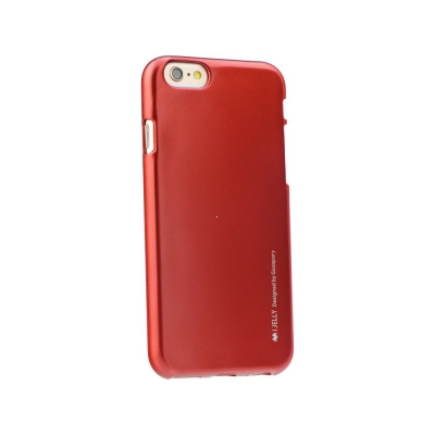 Pouzdro MERCURY i-Jelly Case METAL iPhone 5, 5S, 5C, SE červená