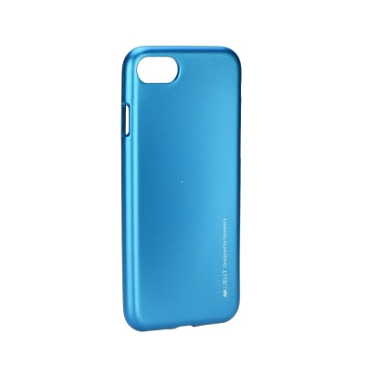 Pouzdro MERCURY i-Jelly Case METAL iPhone 7, 8 (4,7) modrá