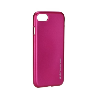 Pouzdro MERCURY i-Jelly Case METAL iPhone 7, 8 (4,7) růžová