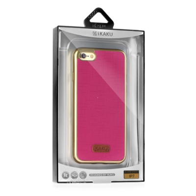 Pouzdro KAKU WALL Samsung G935 Galaxy S7 Edge barva růžová