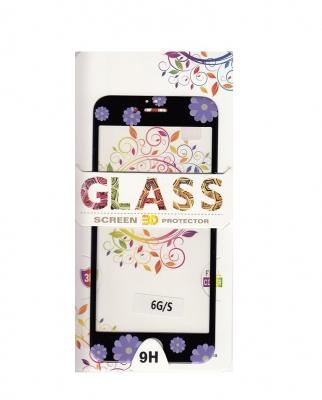 Tvrzené sklo 2,5D DESIGN Soft Frame Full Cover iPhone 6, 6S (4,7) vzor 3 černá