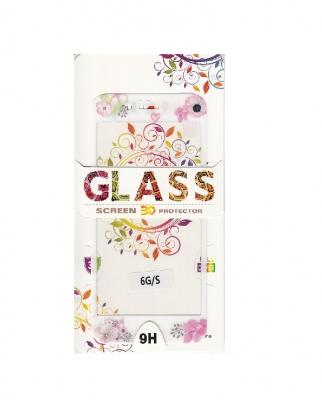 Tvrzené sklo 2,5D DESIGN Soft Frame Full Cover iPhone 7, 8 (4,7) vzor 1