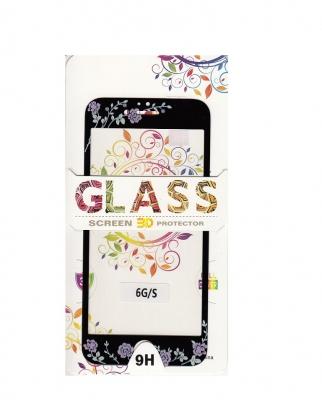 Tvrzené sklo 2,5D DESIGN Soft Frame Full Cover iPhone 7, 8, SE (2020) vzor 4 černá