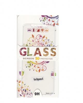 Tvrzené sklo 2,5D DESIGN Soft Frame Full Cover iPhone X vzor 2
