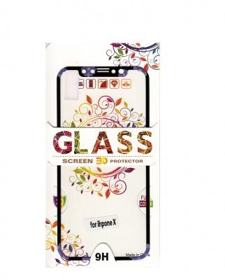 Tvrzené sklo 2,5D DESIGN Soft Frame Full Cover iPhone X vzor 3
