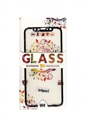 Tvrzené sklo 2,5D DESIGN Soft Frame Full Cover iPhone X vzor 4