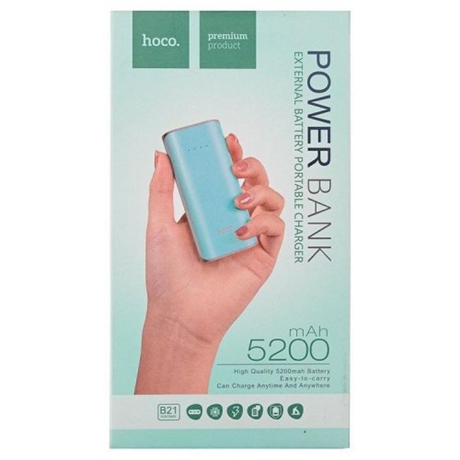POWER Bank HOCO Tiny B21 - 5200 mAh barva mint (green)