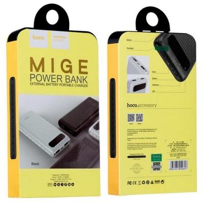 POWER Bank HOCO Mige B20A - 20000 mAh barva černá