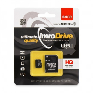 Paměťová karta micro SD IMRO 64GB Class 10 Blistr
