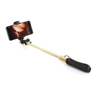 Držák na Selfie REMAX  P5 3,5mm jack barva zlatá