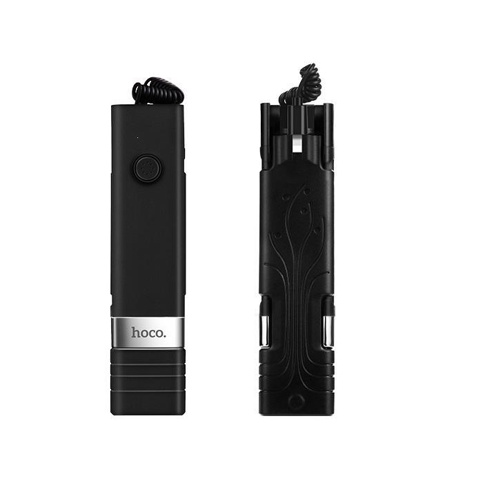 Držák na Selfie HOCO Beauty K3A 3,5mm jack barva černá - připojení pro iPhone