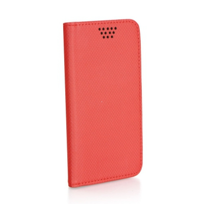 Pouzdro Book STICK MAGNET universal 4,5´´-4,7´´ červená