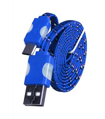 Datový kabel micro USB TYP-C - Svítící barva modrá