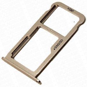 Držák (šuplík) SIM Huawei P9, P9 LITE zlatá