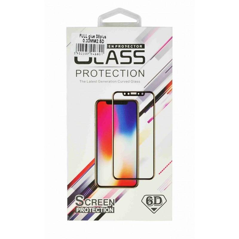 Tvrzené sklo 5D FULL GLUE Huawei P8 Lite 2017, P9 Lite 2017 černá