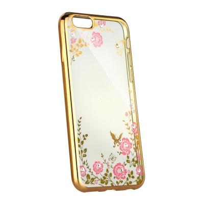 Pouzdro Back Case FLOWER Huawei P20 zlatá