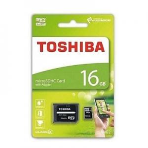 Paměťová karta micro SD TOSHIBA 16GB Class 10 UHS I 100MB/s Blistr