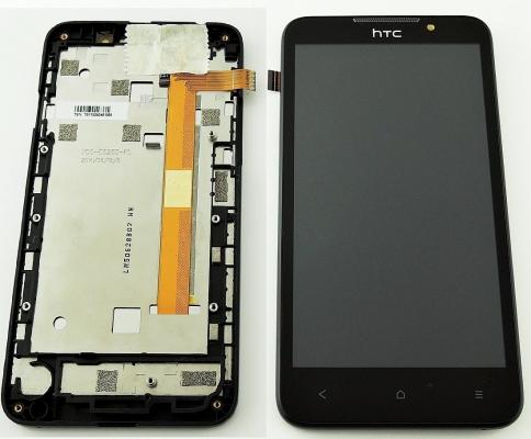 Dotyková deska HTC DESIRE 516 + LCD + rámeček černá