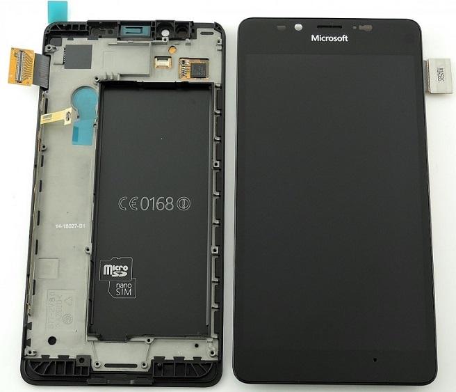 Dotyková deska Nokia / Microsoft 950 Lumia + LCD s rámečkem černá