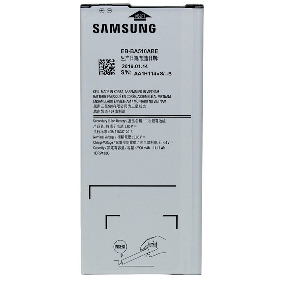 Baterie Samsung EB-BA510ABE 2900mAh Li-ion (Bulk) - A510 (2016)