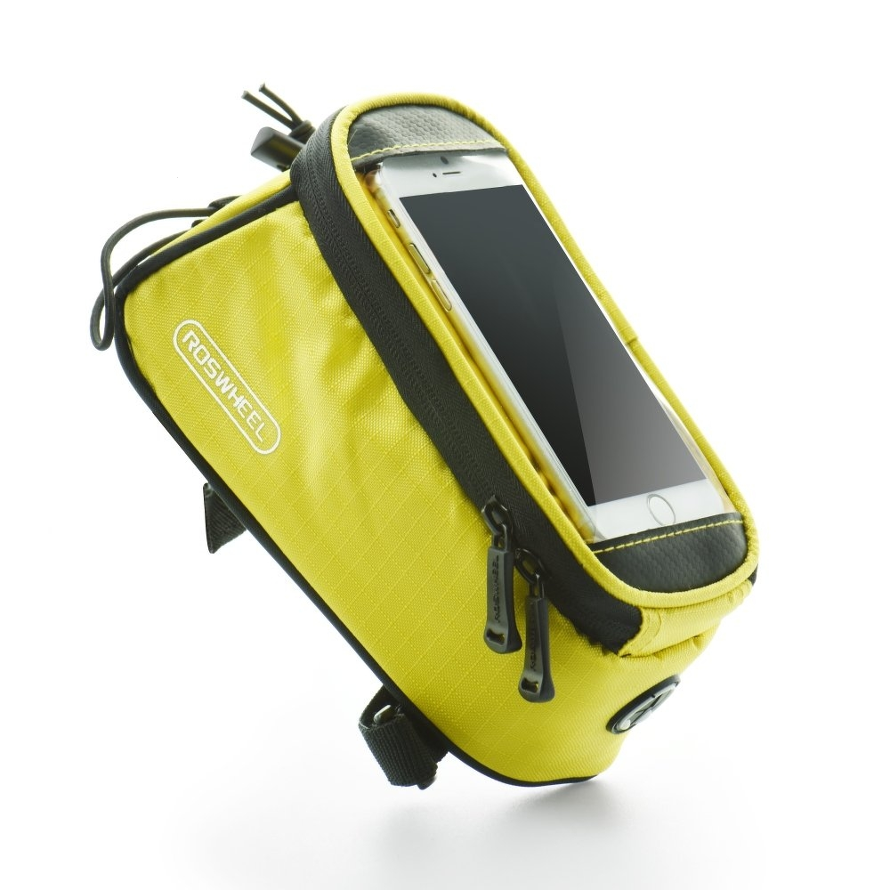 Držák na kolo kapsa ROSWHEEL velikost max 4,8´´ - barva žlutá
