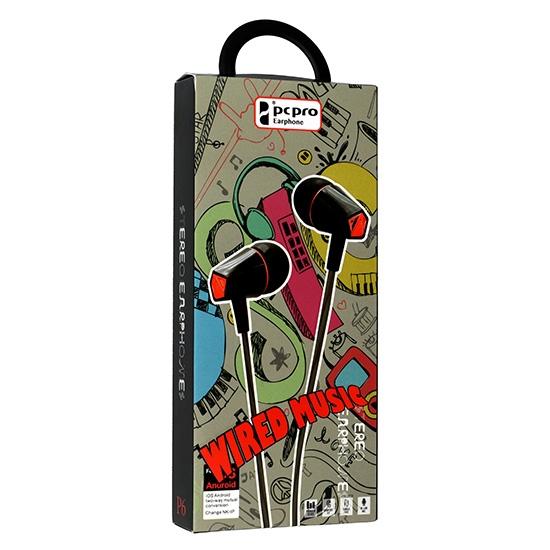 Hands Free Wired MUSIC P6 3,5 mm jack Barva černá/červená