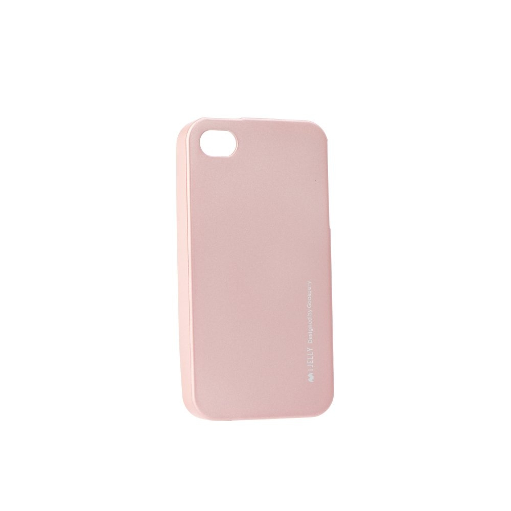 Pouzdro MERCURY i-Jelly Case METAL iPhone 5, 5S, 5C, SE rose gold