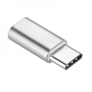 Redukce micro USB / USB Typ C barva stříbrná