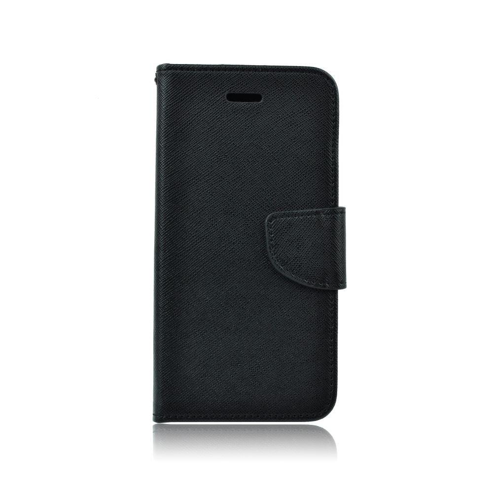 Pouzdro FANCY Diary TelOne Huawei Y6 (2018), Y6 PRIME (2018) barva černá - s otvorem otisku
