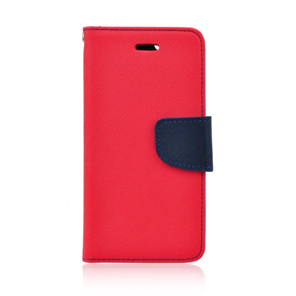 Pouzdro FANCY Diary TelOne Huawei Y6 (2018), Y6 PRIME (2018) barva červená/modrá - s otvorem otisku
