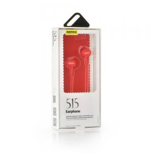 Hands Free REMAX RM-515 3,5 mm jack, barva červená