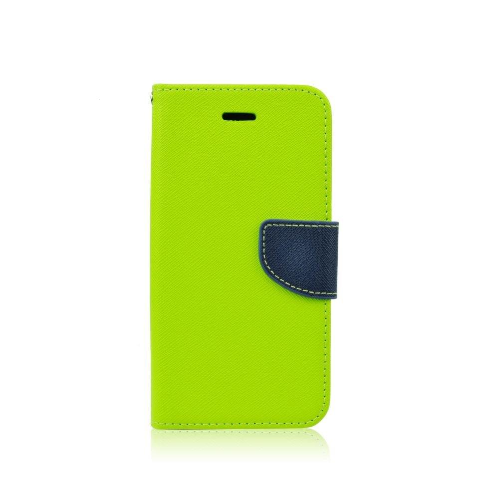 Pouzdro FANCY Diary TelOne Huawei Y7 (2018), Y7 PRIME (2018) barva limetka/modrá