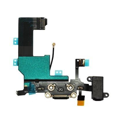 Flex iPhone 5C s dobíjecím konektorem (barva černá)