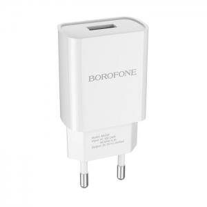 Cestovní nabíječ USB universál 2.1A BA20A BOROFONE barva bílá