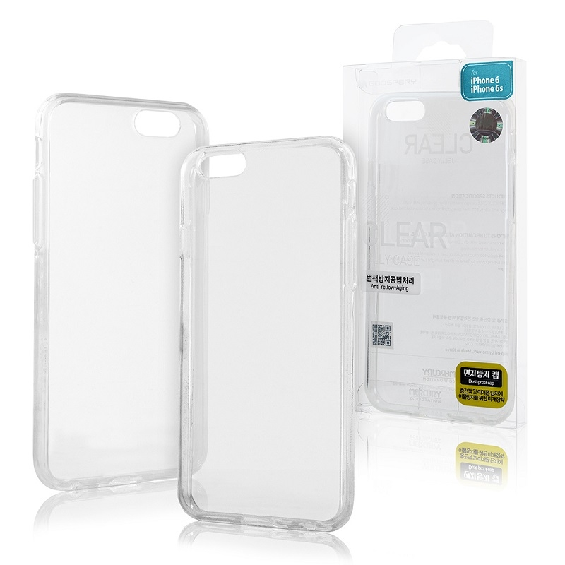 Pouzdro MERCURY Jelly Case iPhone XR (6,1) transparentní